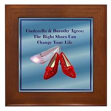 Med. Blue Shoes Framed Tile