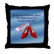 Med. Blue Shoes Throw Pillow