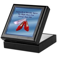 Med. Blue Shoes Keepsake Box