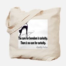 Curious kitty tote bag.