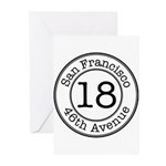 18 46th Avenue Greeting Cards (Pk of 10)