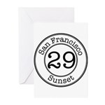 Circles 29 Sunset Greeting Cards (Pk of 20)