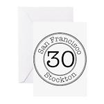 Circles 30 Stockton Greeting Cards (Pk of 20)