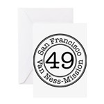Circles 49 Van Ness-Mission Greeting Card
