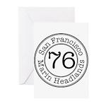 Circles 76 Marin Headlands Greeting Cards (Pk of 2