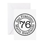 Circles 76 Marin Headlands Greeting Cards (Pk of 1