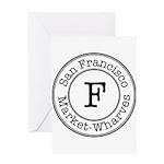 Circles F Market-Wharves Greeting Card