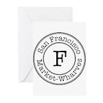 Circles F Market-Wharves Greeting Cards (Pk of 10)