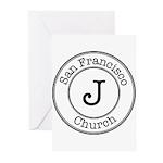 Circles J Church Greeting Cards (Pk of 10)
