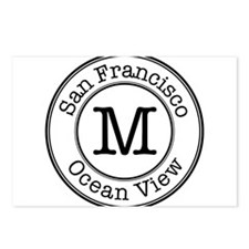 Circles M Ocean View Postcards (Package of 8)