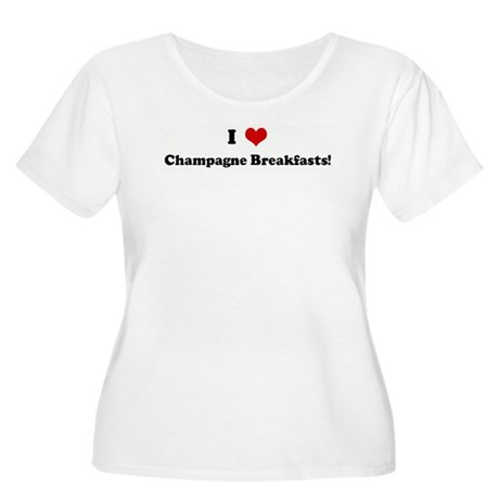 I Love Champagne Breakfasts! Women's Plus Size Sco