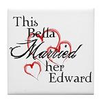 Bella married Edward Tile Coaster