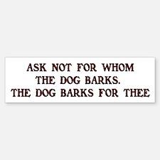 Beware of the Dog Bumper Bumper Bumper Sticker