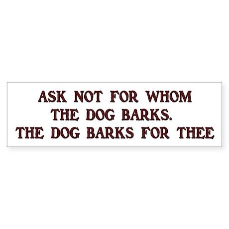 Beware of the Dog Bumper Sticker