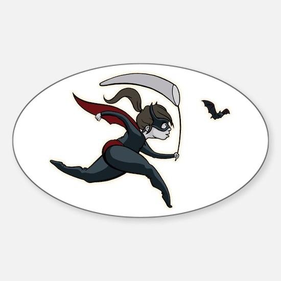 Batgirl Oval Decal