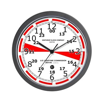 Original Ships Radio Room Clock