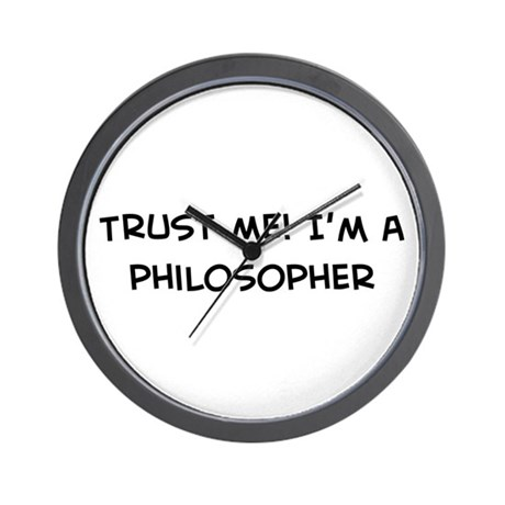 Trust Me: Philosopher Wall Clock