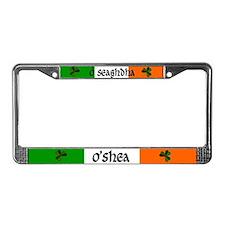 O'Shea in Irish & English License Plate Frame