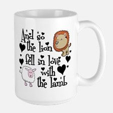 Lion fell in love with lamb Large Mug