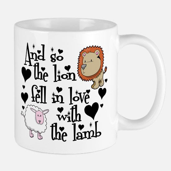 Lion fell in love with lamb Mug