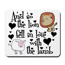 Lion fell in love with lamb Mousepad
