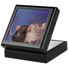 Two Cute Mice Keepsake Box