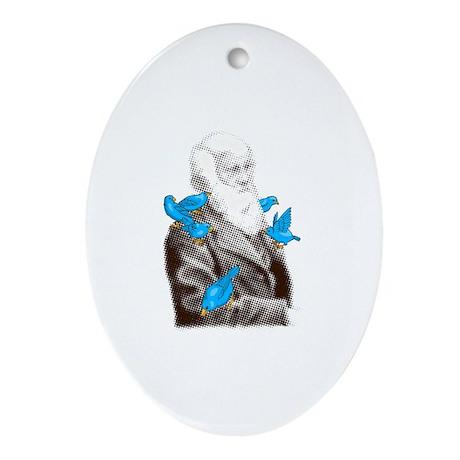 Darwin's Finches Oval Ornament