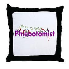 phlebotomist III Throw Pillow