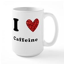 The I LOVE CAFFEINE Mug (Large)