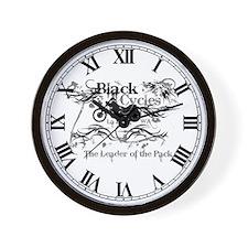 Black Cycles Wall Clock