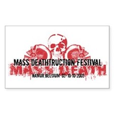 Mass Deathtruction Rectangle Decal