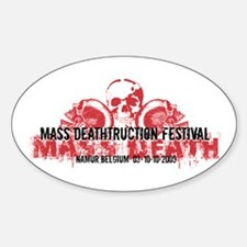 Mass Deathtruction Oval Decal
