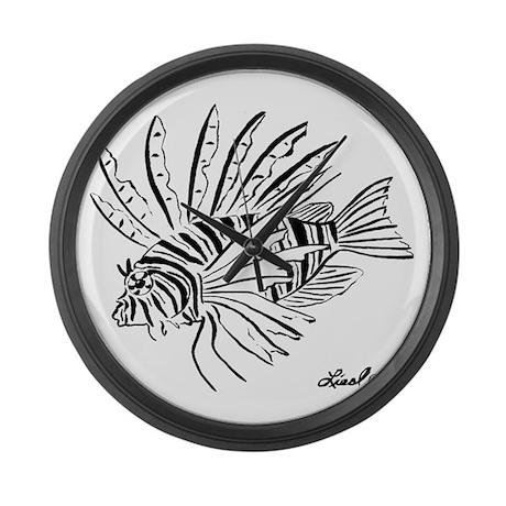 Lionfish Large Wall Clock