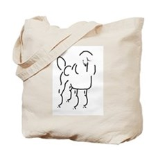 Poodle Sketch Tote Bag