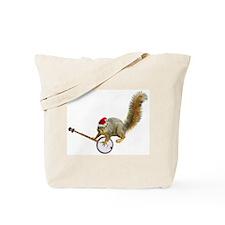 Christmas Banjo Squirrel Tote Bag
