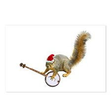 Christmas Banjo Squirrel Postcards (Package of 8)