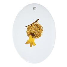 Weaver Nest Oval Ornament