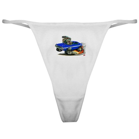 Dodge Challenger Blue Car Classic Thong