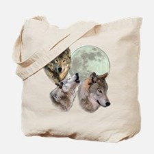 New Moon Wolf Tote Bag