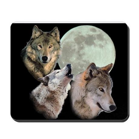 New Moon Wolf Mousepad