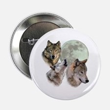 "New Moon Wolf 2.25"" Button"