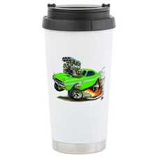 Dodge Challenger Green Car Travel Mug