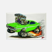 Dodge Challenger Green Car Rectangle Magnet