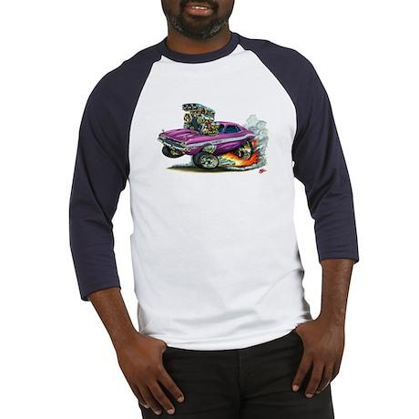 Dodge Challenger Purple Car Baseball Jersey