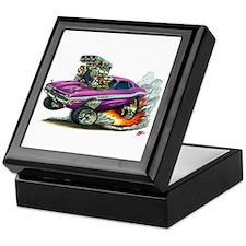 Dodge Challenger Purple Car Keepsake Box