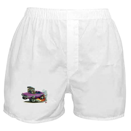 Dodge Challenger Purple Car Boxer Shorts