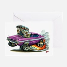 Dodge Challenger Purple Car Greeting Cards (Pk of