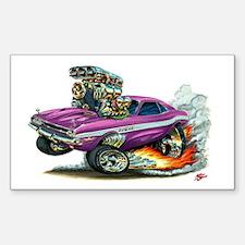 Dodge Challenger Purple Car Rectangle Decal