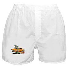 Dodge Challenger Orange Car Boxer Shorts