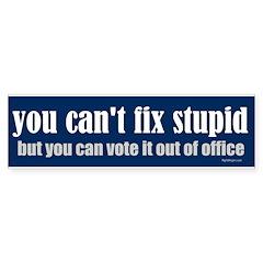 You can't fix stupid Bumper Sticker (10 pk)
